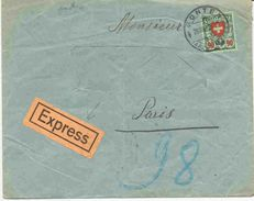Lettre Exprès De Suisse (adresse Découpée) - Lettres & Documents