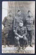 Carte Photo Militaire 4 Soldats Soldiers Américains Après Les Combats De L'Argonne Montfaucon American War WWI WW114-18 - Guerre 1914-18