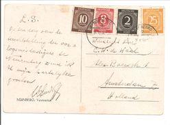 Postkarte Portogerecht 16.10.1946 Nürnberg>Holland. Meldung über Kriegsverbrecher - Zona AAS