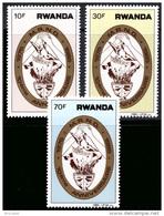 Rwanda 1240/42** Developpement  MNH - 1980-89: Neufs