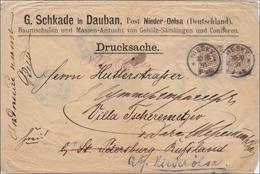 Drucksache Brief Von Niesky Nach St. Petersburg 1891 - Deutschland
