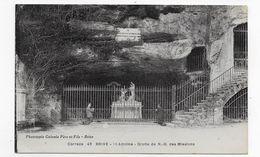 BRIVE - N° 42 - ST ANTOINE - GROTTE DE N.D. DES MISSIONS AVEC PERSONNAGES - CPA VOYAGEE - Brive La Gaillarde