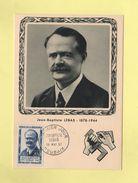 Carte Maximum - N°1104 - Jean Baptiste Lebas - 1950-59