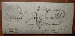 1840 Vernon (Eure) Lettre Pour Epense - Storia Postale