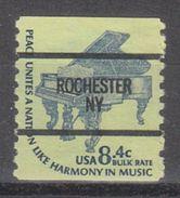 USA Precancel Vorausentwertung Preo, Bureau New York, Rochester 1615C-87 - United States
