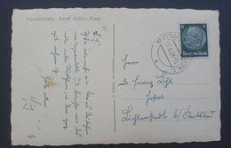 Germany 1939 6pf On Postcard, Neutitschein, Adalf Hitler Platz - Entiers Postaux