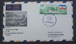 Germany 1967 Lufthansa First Flight LH 195 Budapest To Frankfurt Souvenir Cover - [7] Federal Republic