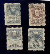 San Marino 1907-1918 4 Valori Misti Nuovi Linguellati E Usati  Fra.985 - San Marino
