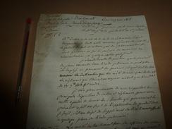 1818 Lettre Du Garde Des Sceaux Pour Faire Appliquer La Loi Sur Les Traitements Et Droits D'Assistance..etc - Manuscrits
