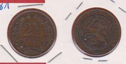 Inde / 2 1/2 Cent  1881 / KM 108 / TTB - 1849-1890 : Willem III