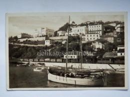 MONTENEGRO DALMAZIA Dalmatia Herceg Novi Castelnuovo Boat  AK Postcard - Montenegro