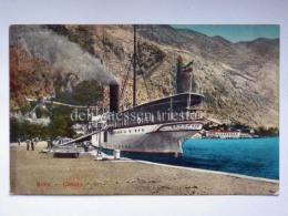 MONTENEGRO DALMAZIA Dalmatia Cattaro Kotor Boat Ship PANNONIA Österreichischer Lloyd AK Postcard - Montenegro