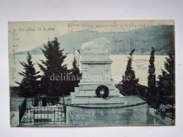 DALMAZIA Dalmatia Croatia  Vis Lissa Battle Ship Boat War Monument  AK Postcard - Croazia