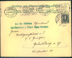 """1925, Vordruckumschlag (Drucksache) """"""""Deutscher Und Österreichischer Alpen-Verein Mit EF1 Groschen Nach Godesberg. - 1918-1945 1. Republik"""