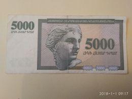 5000 Drams 1995 - Armenia