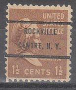 USA Precancel Vorausentwertung Preo, Bureau New York, Rockville Centre 805-72 - United States