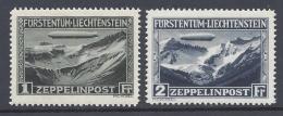 LIECHTENSTEIN 1931 ZEPPELIN Nº 7/8 - Poste Aérienne