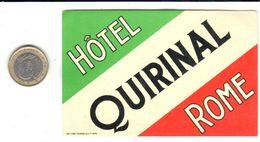 ETIQUETA DE HOTEL  - HOTEL QUIRINAL  - ROMA - Etiketten Van Hotels