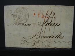 PL. Ti. 3. Lettre Datée De 1830 De Marseille Vers Bruxelles (Pays Bas) Griffe Rouge VERBERGEN. Marque Rouge C.F.5.R - 1815-1830 (Holländische Periode)