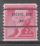 USA Precancel Vorausentwertung Preo, Bureau New York, Rockville Centre 1055-81 - United States