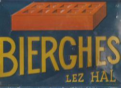 Plaque Publicitaire  Bierges  Brique  1948 - Advertising (Porcelain) Signs