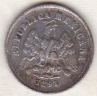 Mexico SECOND REPUBLIC . 10 Centavos 1891 Zs Zacatecas . Argent. KM# 403.10 - Mexique