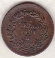 Mexico SECOND REPUBLIC . 1 Centavo 1890 Mo. Fautée. Le 0 De 1890 Est Bouché Et En Relièf  . Erreur - Mexique