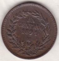 Mexico SECOND REPUBLIC. 1 Centavo 1891 Mo.  KM# 391.6 - Mexique