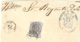 Frontal S.N. 1 Libra - Fechador De CANJAYAR (Almería) - 1850-68 Königreich: Isabella II.