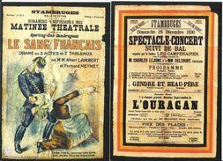 Stambruges - Grand Théâtre De La Fanfare, Pochette Avec Huit Cartes Repro D'anciennes Affiches Du Théâtre (Beloeil) - Beloeil