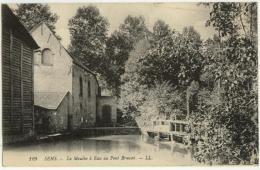 (89) 101, Sens, LL 129, Le Moulin à Eau Au Pont Bruant, Voyagée Sous Pli, TB - Sens