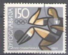 Yugoslavia Used 1964 Olympic Games - Tokyo, Japan Football Soccer - Usados
