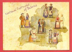 (56) Belarus National Costumes Unused Postcard - Belarus