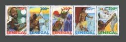 SENEGAL 2015 2016 FISHING EVOLUTION DE LA PECHE (DESIGN 1977) FISH FISHES POISSON POISSONS  - STRIP - RARE -  MNH ** - Senegal (1960-...)