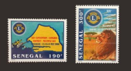 SENEGAL 2000 LIONS CLUB FELINS LION - RARE -  MNH ** - Sénégal (1960-...)