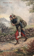 Thématiques 2018 Commémoration Fin De Guerre 1914 1918 Soldat Français Portant Un Blessé Allemand Grandeur D'âme - Guerra 1914-18