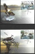 POLOGNE 2003  FDC RAPACES-WWF  Yvert  N°3830/33 - Eagles & Birds Of Prey