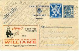 BELGIQUE PUBLIBEL N°611 GRANDES VENTES PUBLIQUES WILLIAME - Stamped Stationery