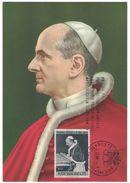 AO41     Paolo VI  Apostolo In Terra Santa  1964  Maxicard Con Annullo - Papi
