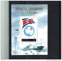 COREE DU NORD BLOC 80** SUR L EXPLORATION ANTARCTIQUE - Corée Du Nord