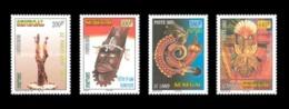 SENEGAL 2003 - MASKS MASQUES MASQUE ET SCULPTURES - RARE -  MNH ** - Sénégal (1960-...)