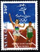 SENEGAL 2000 - ATHLETISME ATHLETICS RUNNING COURSE 200 M 200M - JEUX OLYMPIQUES SYDNEY OLYMPIC GAMES - RARE -  MNH ** - Senegal (1960-...)