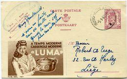 BELGIQUE PUBLIBEL N°727 THEME USTENSILE DE CUISINE - Stamped Stationery