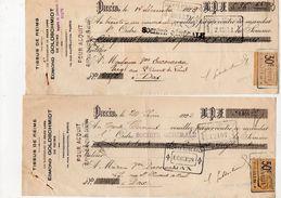 Reims Tissus De Reims. E.Goldschmidt. - Cheques & Traveler's Cheques