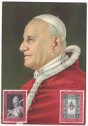 AO43    Papa Giovanni XXIII  Concilio Ecumenico Vaticano II - Maxicard + Annullo 1962 - Papi