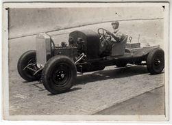AUTO CAR VOITURE IN PROVA NON IDENTIFICATA - FOTO ORIGINALE 1930 CIRCA - Cars