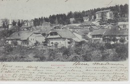 SUISSE 1901 CARTE POSTALE DE BALLAIGUES GRAND HOTEL AUBEPINE - Hotels & Restaurants