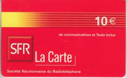 LA RÉUNION - TÉLÉCARTE - GSM DU MONDE *** RECHARGE GSM - SFR  *** - Reunion