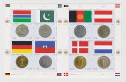 United Nations Vienna Mi 477-484 Flags And Coins Gambia Pakistan Germany Haiti Afghanistan Austria Denmark NL 2006 * * - Blokken & Velletjes