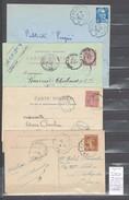 Lettre Cachet Saint Victor à Cours  Et Retour - 4 Piéces - Railway Post